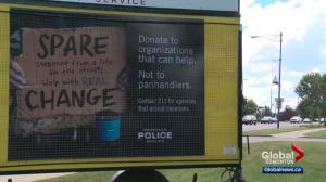 Edmonton police encourage drivers to make a change, rather than give change